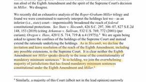 Mandatory Minimums, Juveniles, & Miller/Montgomery/Malvo