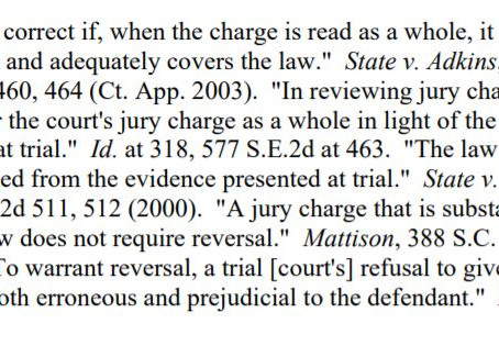 Which Jury Charge?