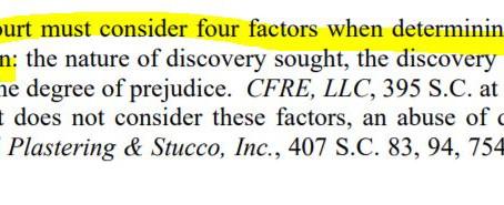 Discovery Sanctions, SC Rule of Civil Procedure 37