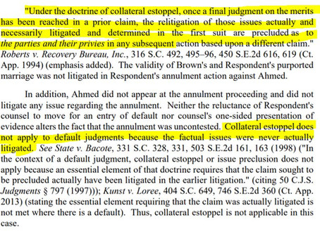 Collateral Estoppel in Default Judgments?