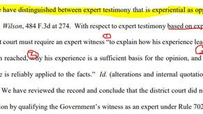 Experiential vs. Scientific Expert Testimony (federal court)