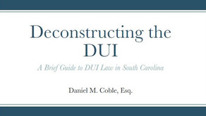 Elements of a DUI:  A motor vehicle