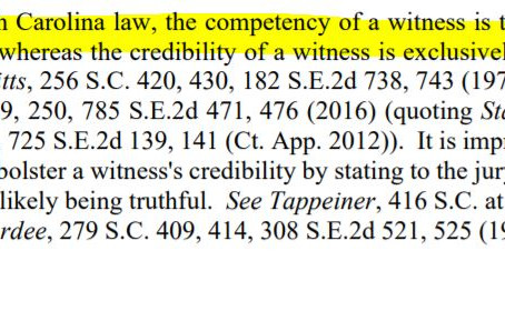 Competency vs. Credibility