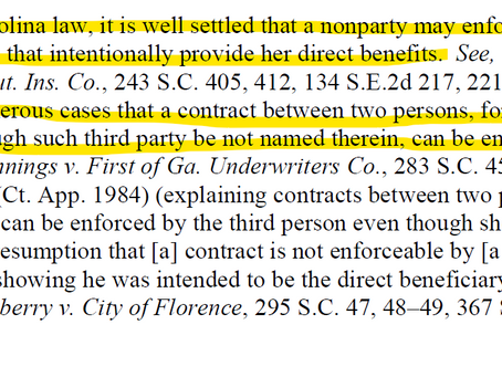 Contract Law: Third Party Beneficiary