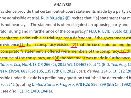 Conspiracy statements and FRE 104