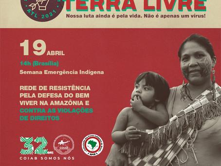 Podáali discute rede de resistência na Amazônia durante Acampamento Terra Livre online