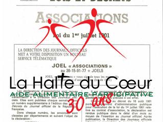 17 février 1986 - 17 février 2016 : La Halte fête ses 30 ans !