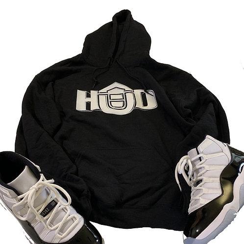 HUD Hoodie BLK/WHT