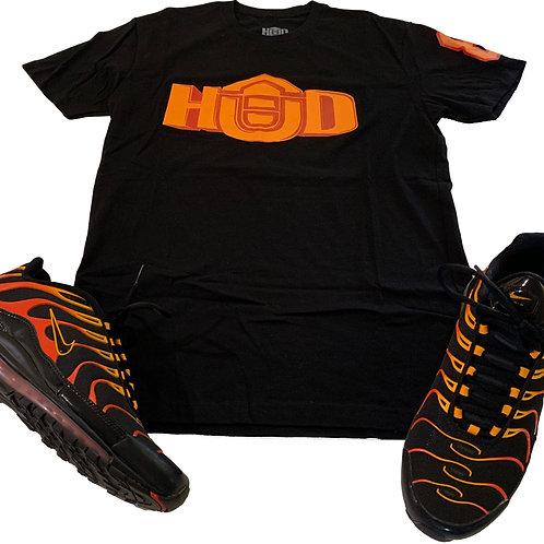 HUD Shirt BLK/ORG