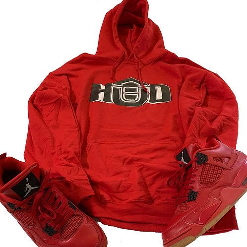 HUD Hoodie RED/BLK