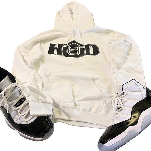 HUD Hoodie WHT/BLK