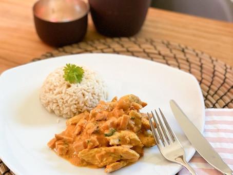 Hähnchengeschnetzeltes in cremiger Curry Sauce