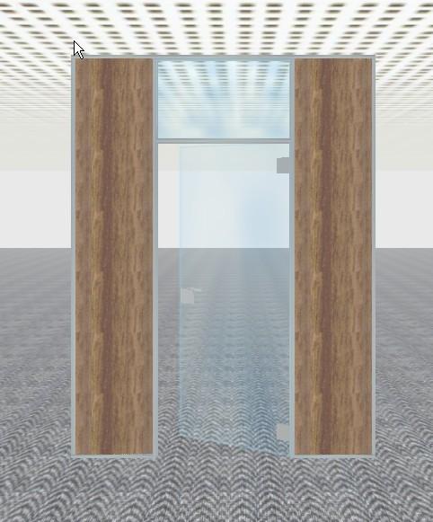 Porte imposte vitrée