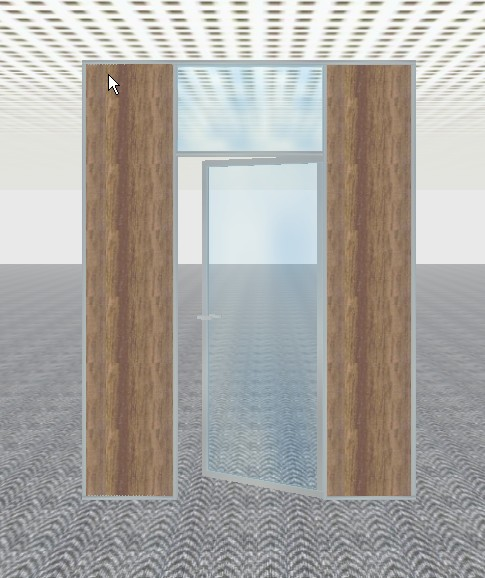 Porte alu imposte vitrée