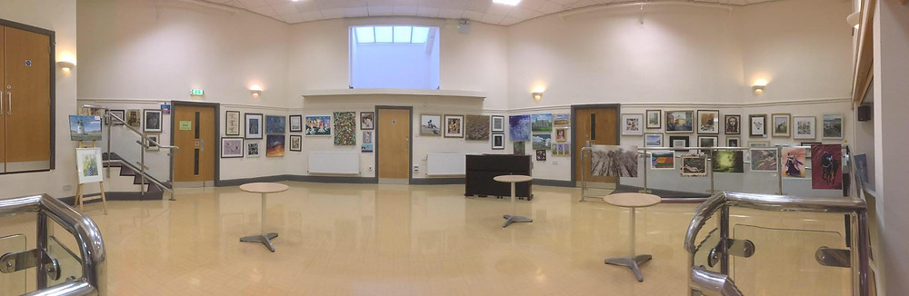 Overview of ERA open show at Pocklington Art Centre