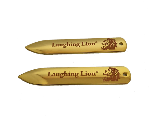 Laughing Lion Gold Collar Stays