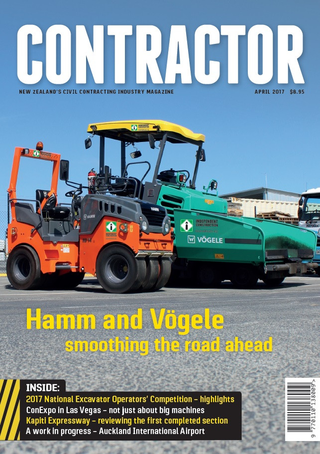 Contractor NZ Magaine Cover i-Construct.