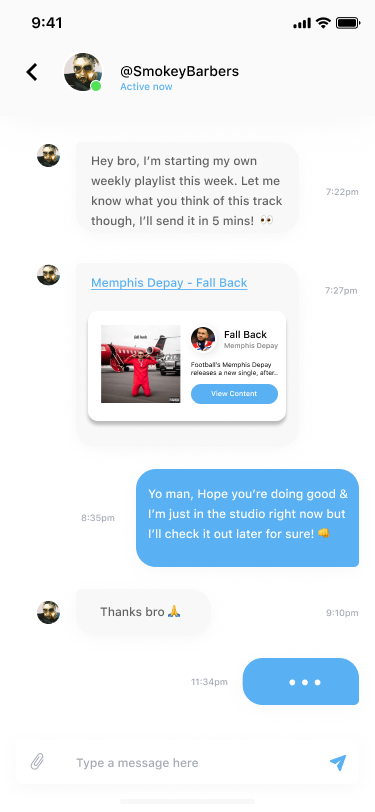 Messages - Recent Shares - Depay