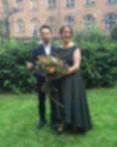 Charlotte Cross bespoke green wedding dress