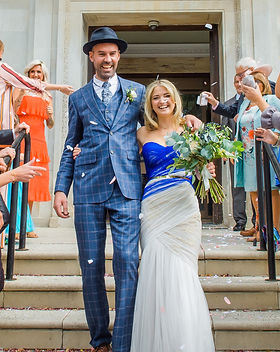 Charlott Cross bespoke blue wedding dress