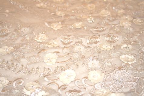 Charlotte Cross bespoke blush veil