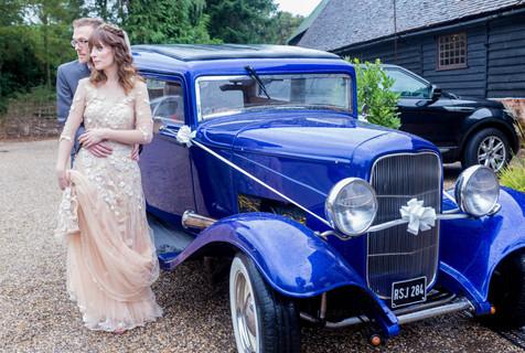 Charlotte Cross bespoke blush wedding dress