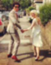 Charlotte Cross bespoke vintage weding dress