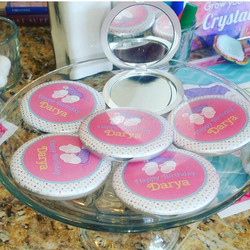birthday sleepover customized mirrors