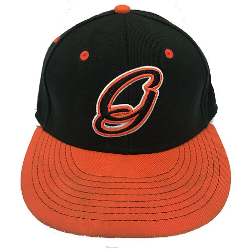 GRIT BASEBALL SCRIPT 'G' LOGO HAT - BLACK/ORANGE
