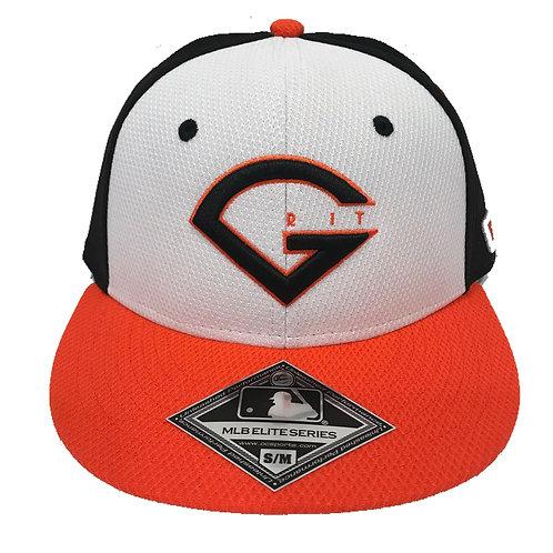 GRIT BASEBALL LOGO HAT - BLACK/WHITE/ORANGE