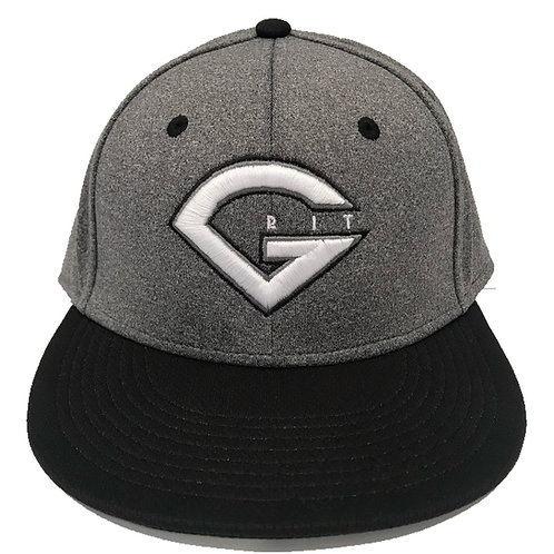 GRIT BASEBALL LOGO HAT -GRAY/BLACK PROFLEX