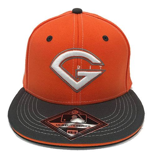 GRIT BASEBALL LOGO HAT - ORANGE/GRAY