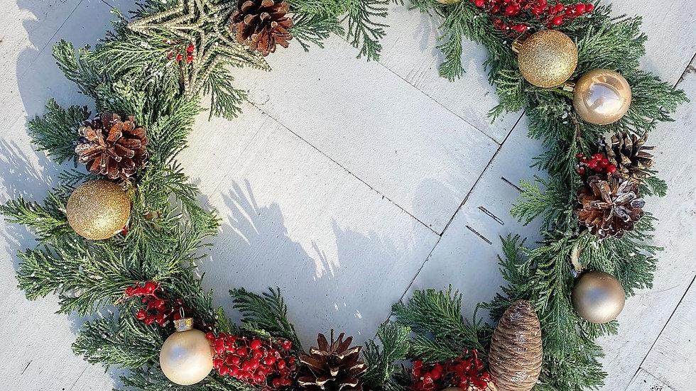 Couronne de Noël - 30cm
