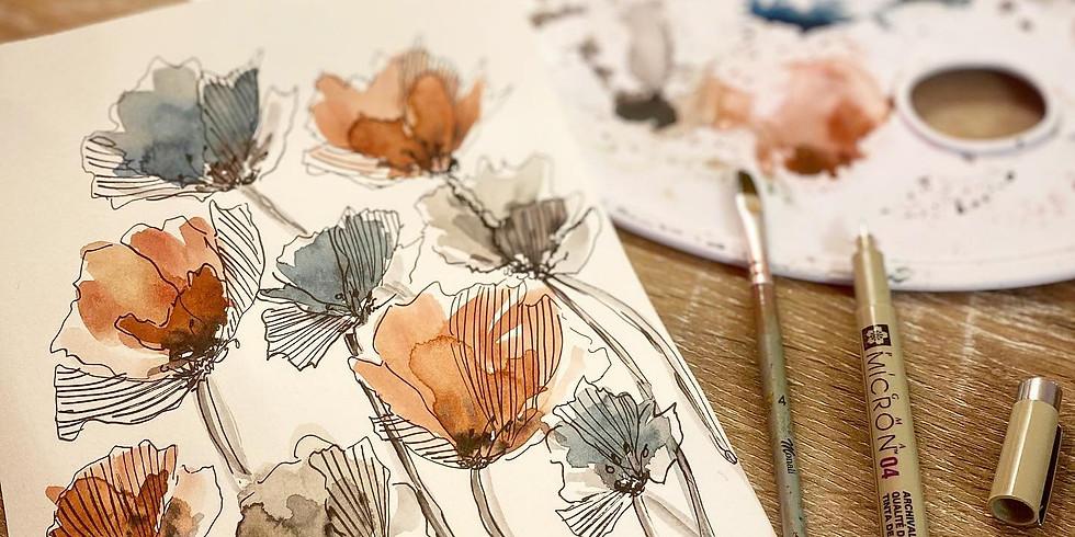Atelier initiation à l'aquarelle