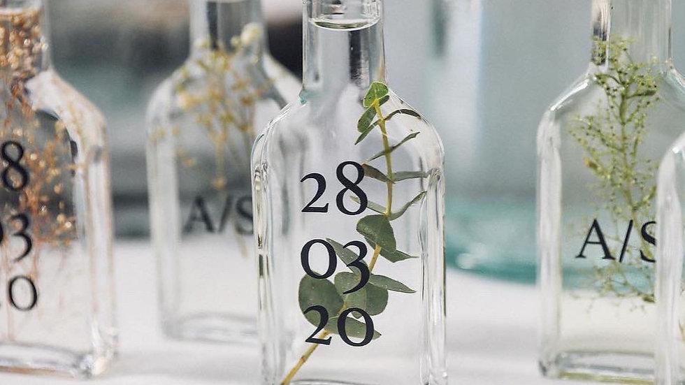 Mini Bouteille de brume parfumé avec insert végétal