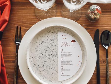 Shooting d'inspiration : Décoration de table Minimaliste en Terracotta