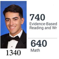 Anthony: Ferguson I.B. Student, after our Summer 2020 SAT Program