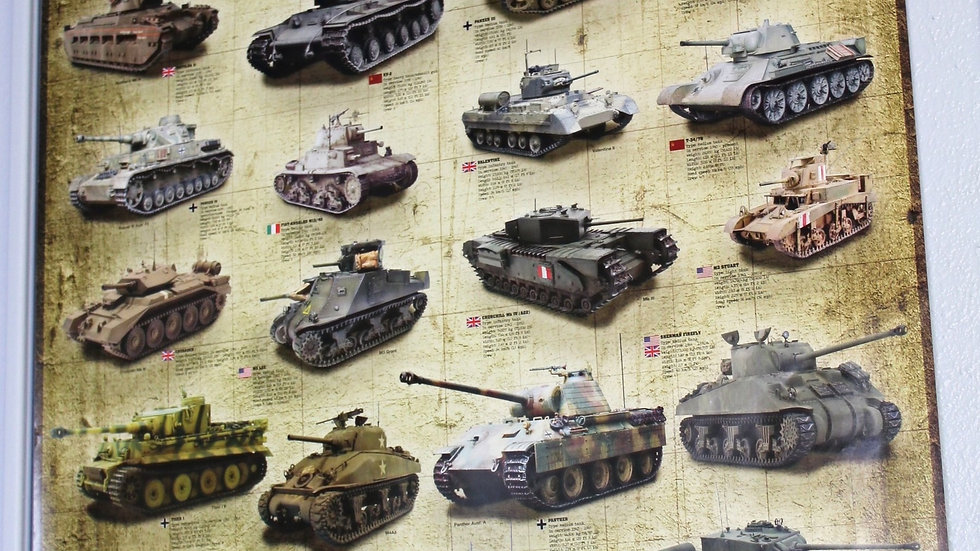 World War II Tanks Poster