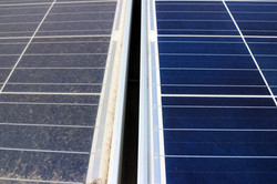 Solar Panel Before and After
