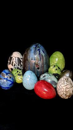 Rode Raku Eieren