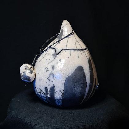Kleine urn wit met antraciet maat: small