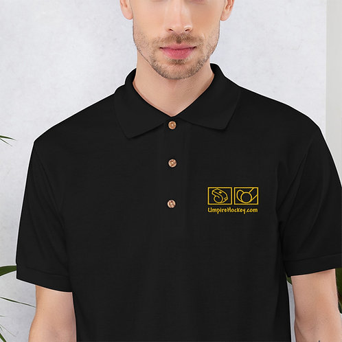 UmpireHockey.com Polo (Black w/Gold Logo)