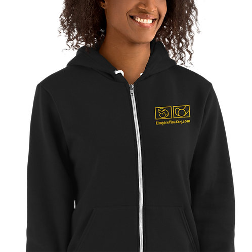 UmpireHockey.com Unisex Hoodie (Black w/Gold Logo)