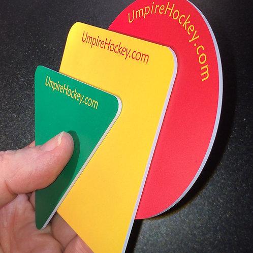 """UmpireHockey.com """"White Edge"""" Cards"""