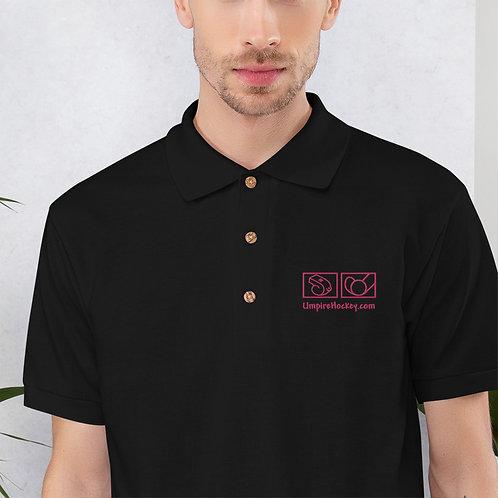 Men's Polo (Black w/Pink Logo)