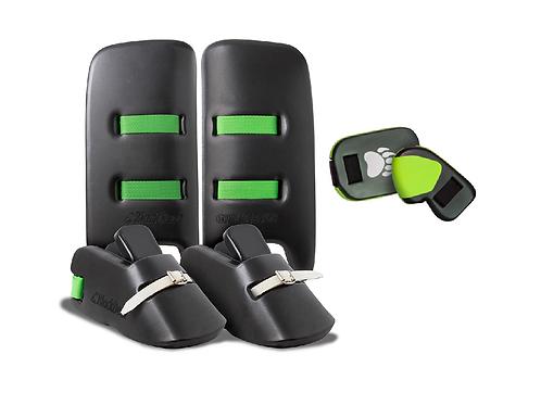 BlackBear Bhalu Kickers, Leg Guards, and Gloves $399