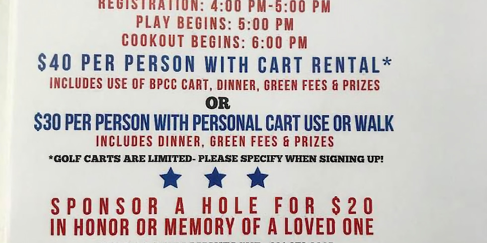 Annual Golf For A Cure Fundraiser