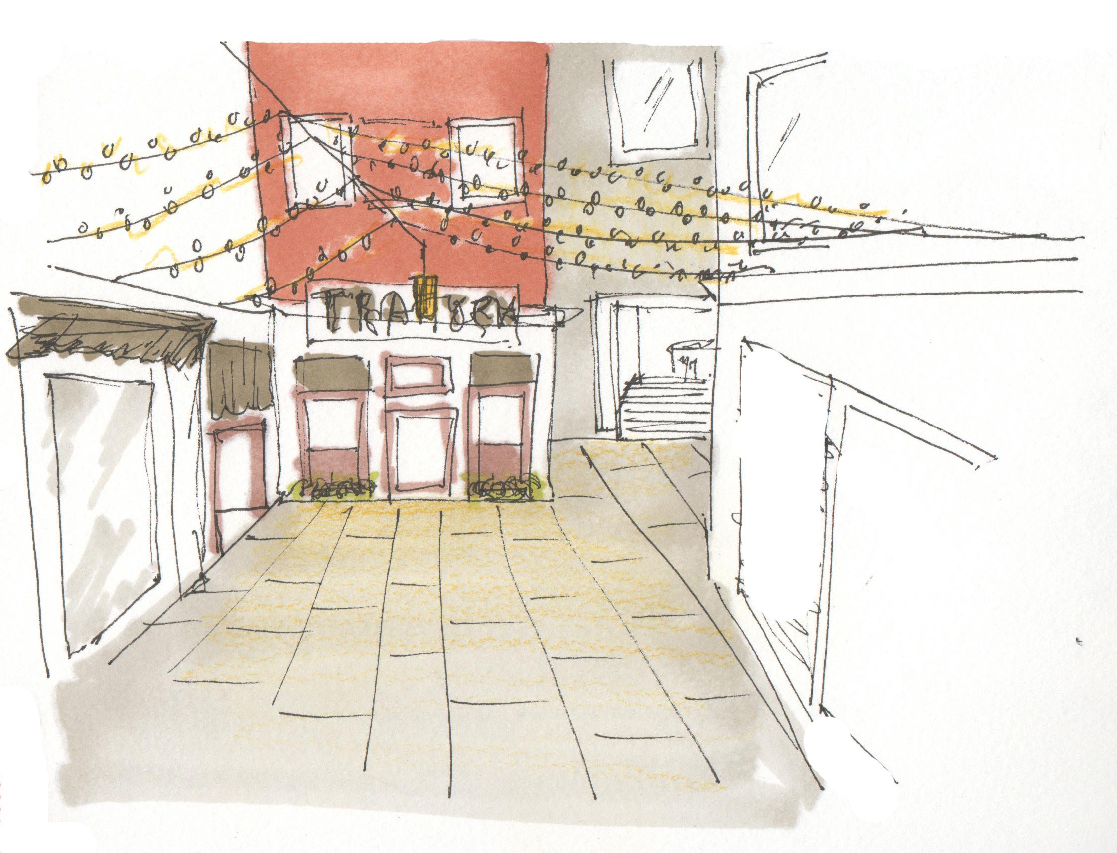 Corner in Venice Sketch