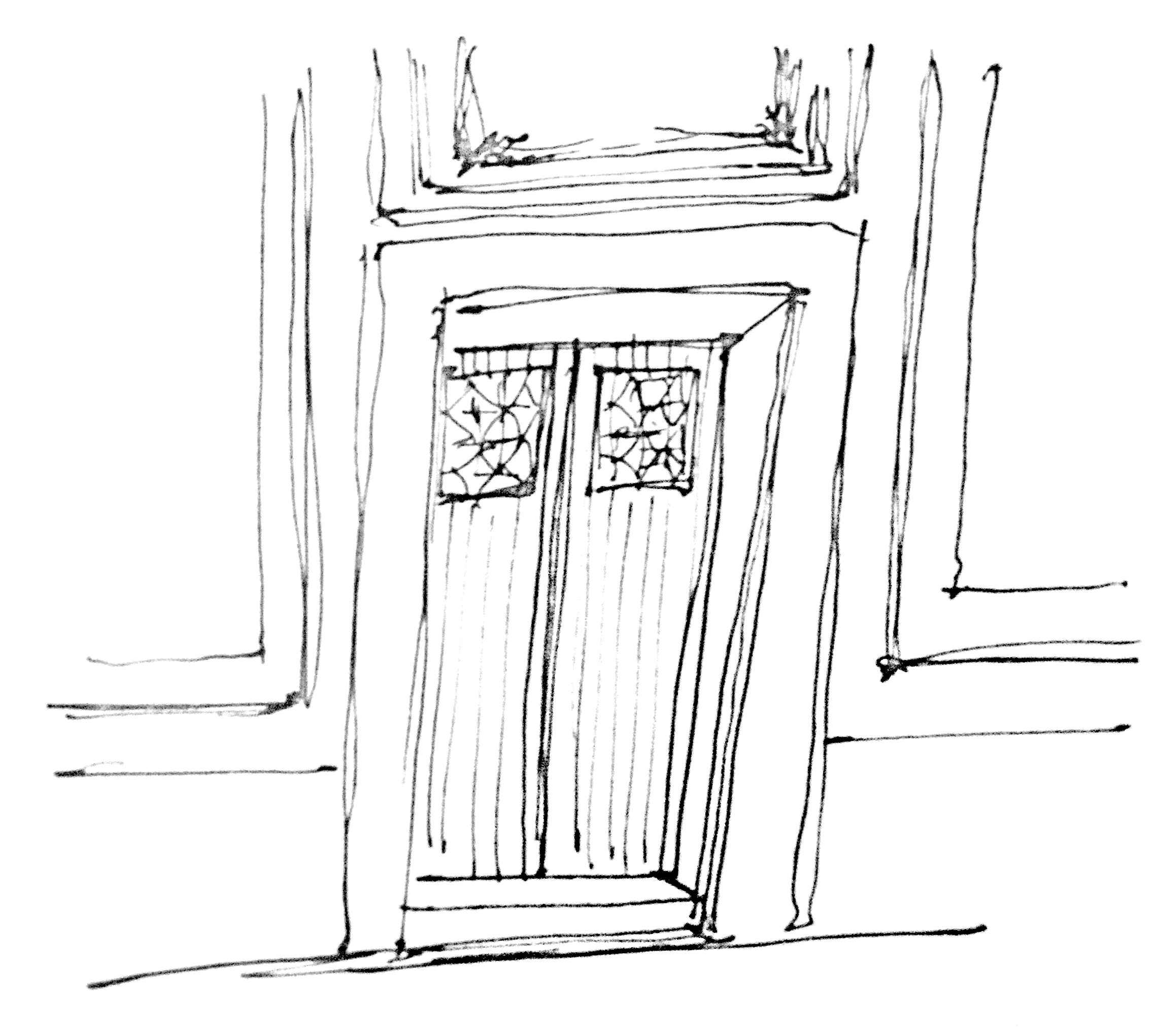 Interior Door Sketch
