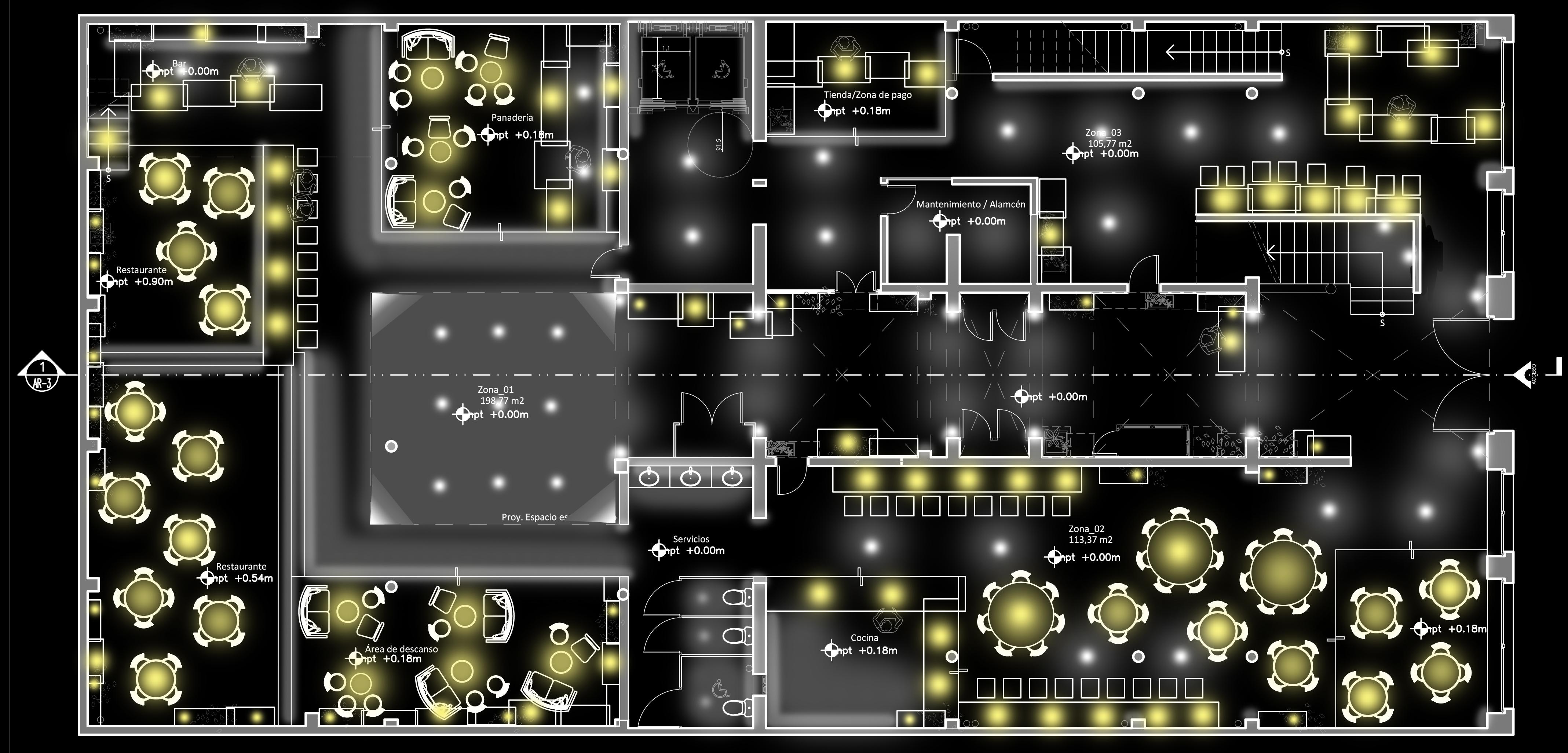 Light First Floor Color Plan